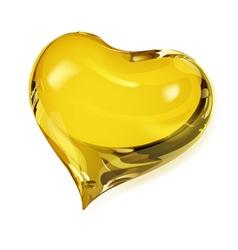 Yellow heart vector