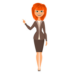 young attractive redhead woman vector image