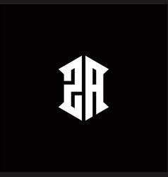 Za logo monogram with shield shape designs vector