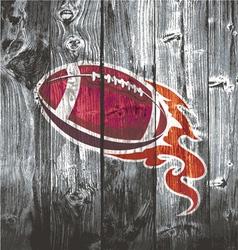 american football black woodboard vector image vector image