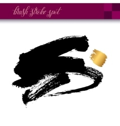 black ink hand drawing brush strokes element vector image