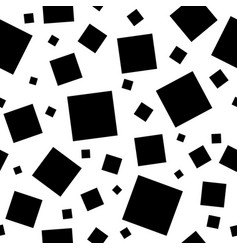 black squares on white background vector image vector image