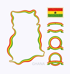 Colors of Ghana vector image