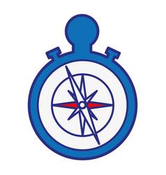 Compass device icon vector