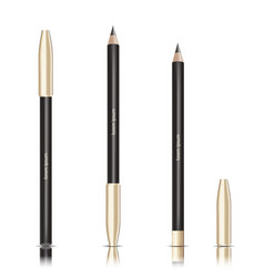 cosmetic black pencil eye pencil with vector image vector image