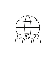 global team icon vector image