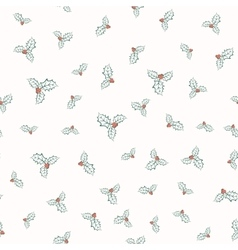holly plant pattern vector image