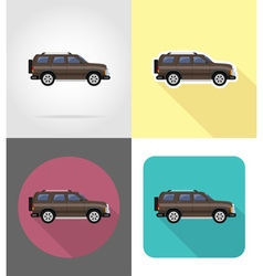 transport flat icons 49 vector image vector image