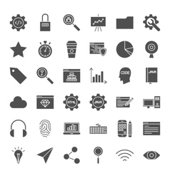 Web Development Solid Icons vector image vector image