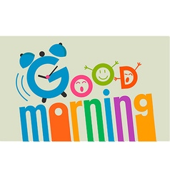 good morning flat style 2 vector image vector image