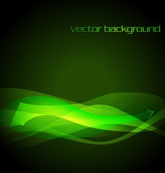 green glowing stylish wave vector image vector image
