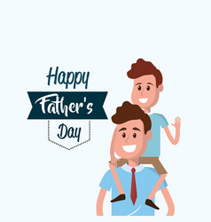 happy father with his son congratulating him vector image