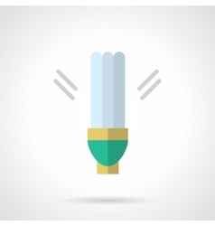 Power save lamp flat icon vector image