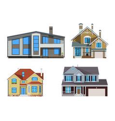 suburban family house set vector image vector image