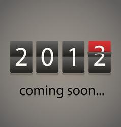 2013 coming soon Paper board vector image vector image