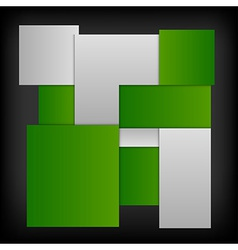 business squares template green dark vector image