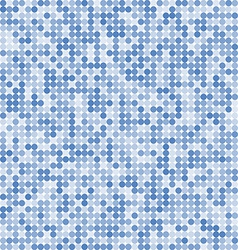 Pattern of the abstract circle blue background vector image