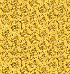 Pineapple peel seamless background Sketch vector image