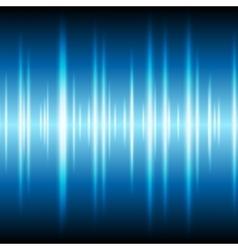 Blue glowing tech waveform equalizer background vector image