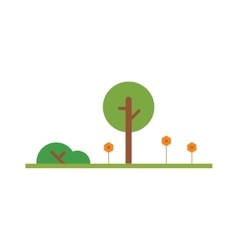 Cartoon tree isolated on white vector image