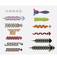 Greek arrows vector image vector image