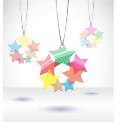 Isolated transparent colorful stars vector image