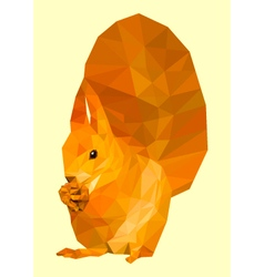Polygonal squirrel vector image vector image