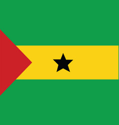 sao tome and principe flag for independence day vector image vector image