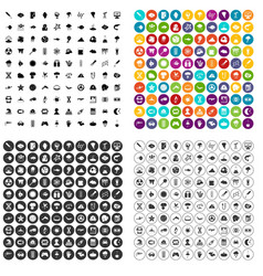100 research icons set variant vector