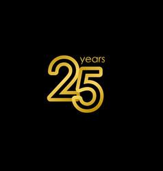 25 years anniversary elegant gold celebration vector