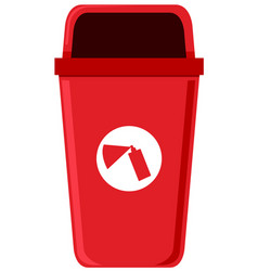 A chemical trash can vector
