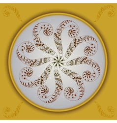 Abstract ornament with frame vector image