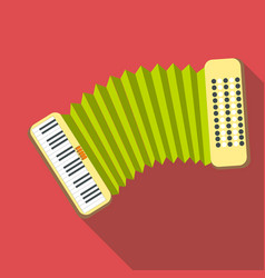 Accordion icon flat style vector