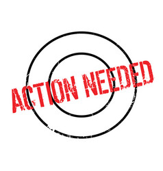 Action needed rubber stamp vector