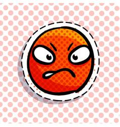 Angry smile emoji vector