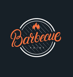 Barbecue hand written lettering logo vector