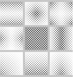 Black and white curved star pattern set vector image
