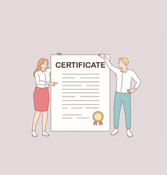 business certificate and development concept vector image