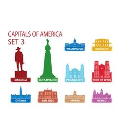 Capitals of America vector