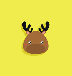 Cartoon deer face vector