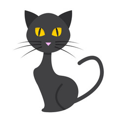 cat flat icon halloween and scary animal sign vector image