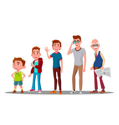 caucasian generation male grandfather vector image