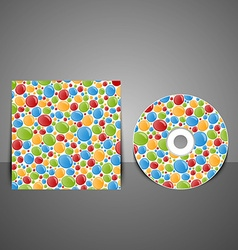 CD cover design with colorful bubbles vector image