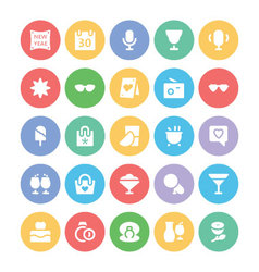 Celebration and Party Icons 6 vector