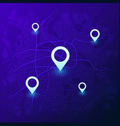 city navigation map futuristic gps location vector image