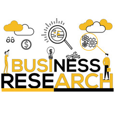 creative word concept business research and vector image