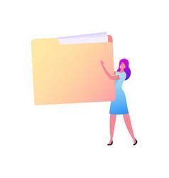 Customer base document management system vector