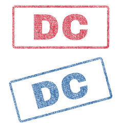 Dc textile stamps vector
