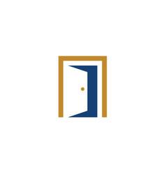 door logo symbol design element vector image