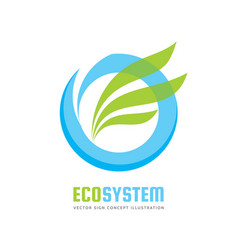 ecology system - logo template concept vector image